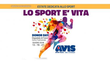 AVIS Donor Day – Lo Sport è Vita (19 giugno 2018)