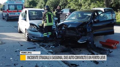 Incidente stradale a Sassonia, due auto coinvolte e un ferito lieve – VIDEO