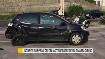 Incidente alle prime ore del mattino tra tre auto a Gimarra – VIDEO