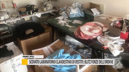 Scovato laboratorio clandestino di vestiti: blitz delle forze dell'ordine – VIDEO