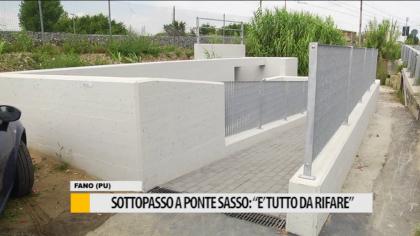 """Sottopasso a Ponte Sasso: """"E' tutto da rifare"""" – VIDEO"""