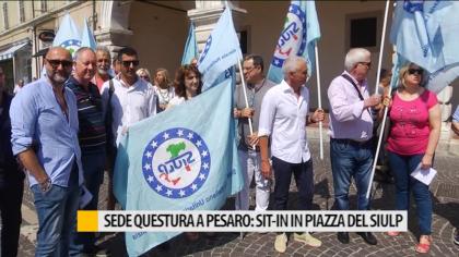 Sede questura a Pesaro: sit-in in piazza del Siulp – VIDEO