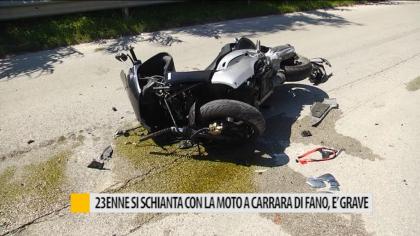 23enne si schianta con la moto a Carrara di Fano, è grave – VIDEO