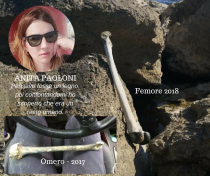 Mistero a Fano: donna trova un femore tra gli scogli. Nel 2017, stesso luogo, un omero (guarda intervista)