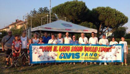 Nuovo striscione Avis per gli impianti sportivi Marconi e Zengarini