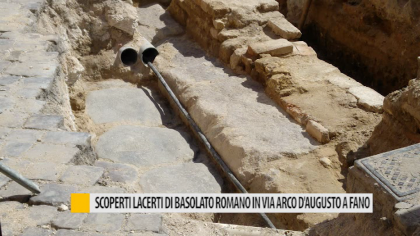 Scoperti lacerti di basolato romano in via Arco d'Augusto a Fano – VIDEO