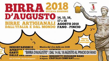 Birra d'Augusto, dal 14 al 18 agosto al Pincio di Fano