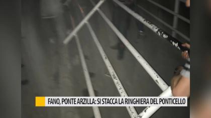 Fano, si stacca la ringhiera del ponticello che collega il Lido con l'Arzilla – VIDEO