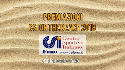 Premiazioni CSI on the Beach 2018 (25 luglio 2018)