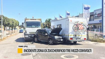 Incidente zona ex zuccherificio, tre mezzi coinvolti – VIDEO