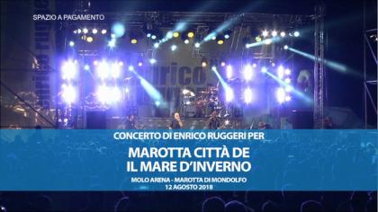 Concerto di Enrico Ruggeri per Marotta città del Mare d'Inverno (12 agosto 2018)