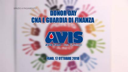 AVIS Donor Day – CNA e Guardia di Finanza (17 ottobre 2018)