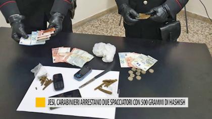Jesi, Carabinieri arrestano due spacciatori con 500 grammi di Hashish – VIDEO