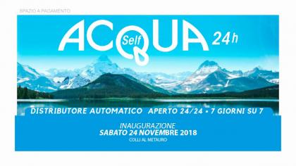 Inaugurazione Acquaself 24h Calcinelli (24 novembre 2018)