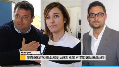 Amministrative 2019: Carloni, Magrini e Ilari entrano nella Lega fanese – VIDEO