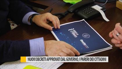 Nuovi decreti approvati dal governo, i pareri dei cittadini – VIDEO