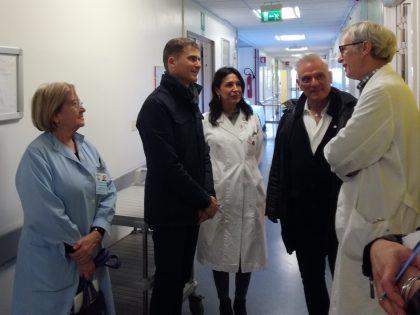 """""""Il Salesi, un'eccellenza della nostra Regione"""": il consigliere Talè in visita all'ospedale pediatrico"""