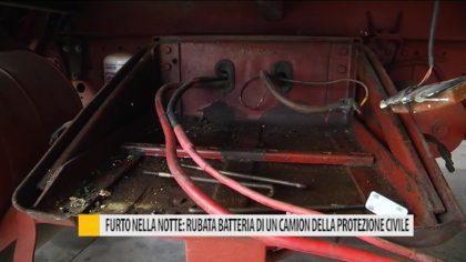 Furto nella notte. rubata la batteria di un camion della protezione civile – VIDEO