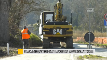Pesaro: interquartieri iniziati i lavori per la nuova bretella stradale – VIDEO