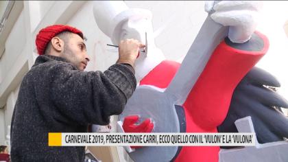 """Carnevale 2019, presentazione carri, ecco quello con il """"Vulon"""" e la """"Vulona"""" – VIDEO"""