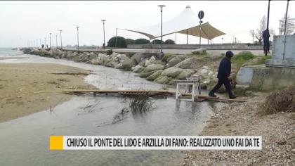 Chiuso il ponte del Lido e Arzilla di Fano: realizzato uno fai da te – VIDEO