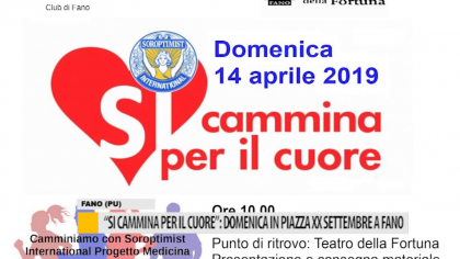 """""""Si cammina per il cuore"""": domenica in piazza XX settembre a Fano – VIDEO"""