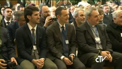 L'udienza di Papa Francesco ai responsabili delle radio-tv cattoliche d'Italia