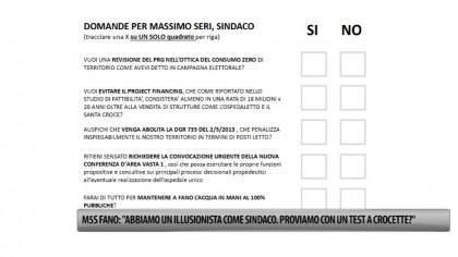 """M5S Fano: """"Abbiamo un illusionista come sindaco. Proviamo con un test a crocette?"""" – VIDEO"""