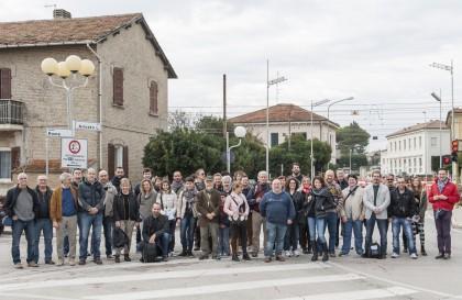 I corsisti di Centrale Fotografia a Marotta il 9 novembre 2014 a 25 anni dalla caduta del muro di Berlino a