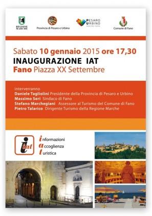 Inaugurazione Iat di Fano, sabato 10 gennaio alle ore 17.30 in Piazza XX settembre