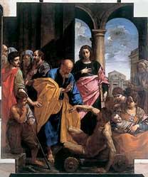 Opere d'arte, rientrate a Fano la Predella con Storie della Vergine e il dipinto San Pietro risana lo storpio