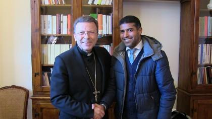 """Icham Rachdi ha incontrato il Vescovo Armando Trasarti. """"Superare il pregiudizio e togliere la paura"""" – VIDEO"""