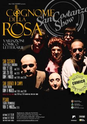 """""""Il Cognome della Rosa"""" lo spettacolo inedito del San Costanzo Show"""