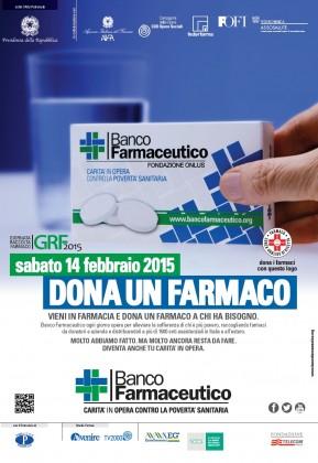 Sabato 14 febbraio la XV Giornata di Raccolta del Farmaco
