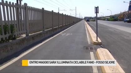 Entro maggio sarà illuminata la ciclabile Fano – Fosso Sejore – VIDEO