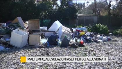 Maltempo, agevolazioni Aset per gli alluvionati – VIDEO