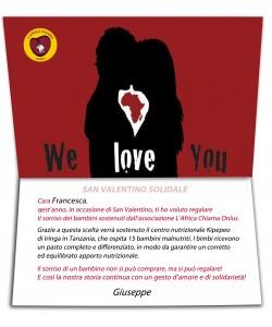 """L'Africa Chiama: """"A San Valentino scegli un regalo solidale"""""""