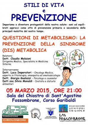 """Stili di vita e prevenzione, incontro sulle """"Questioni di metabolismo"""""""