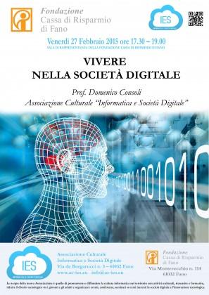 """""""Vivere nella Società Digitale"""", venerdì 27 una conferenza dedicata"""