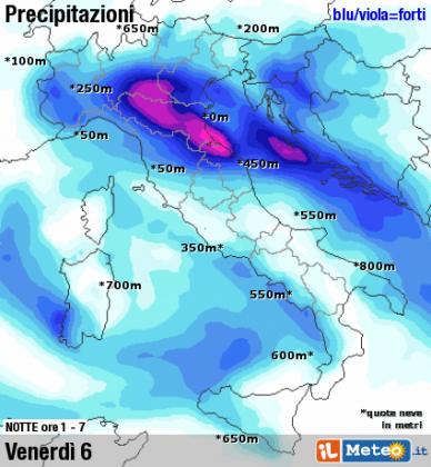 Allerta meteo: pioggia e venti forti nelle prossime ore