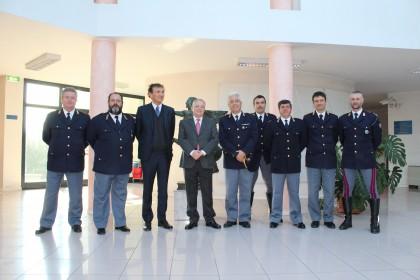 Il Prefetto di Pesaro in visita alla Polizia Stradale