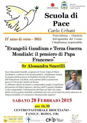 """Scuola di Pace """"Carlo Urbani"""", sabato ultimo appuntamento"""