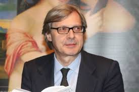 Visita di Vittorio Sgarbi al sindaco di Fano Massimo Seri in Municipio