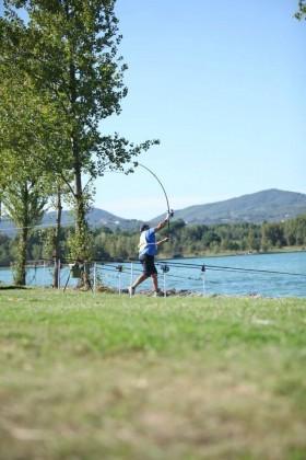 Un pomeriggio all'insegna della pesca sportiva e del lancio tecnico