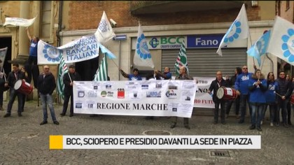 BCC, sciopero e presidio davanti la sede in Piazza XX Settembre – VIDEO