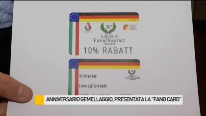 """Anniversario gemellaggio con Rastatt, presentata la """"Fano Card"""" – VIDEO"""