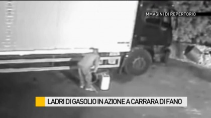 Ladri di gasolio in azione a Carrara di Fano – VIDEO