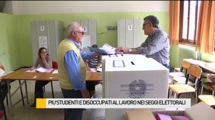 Più studenti e disoccupati al lavoro nei seggi elettorali – VIDEO