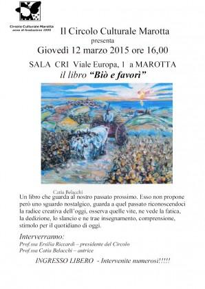 """Presentazione del libro """"Biò e favorì"""", domani alle ore 16"""