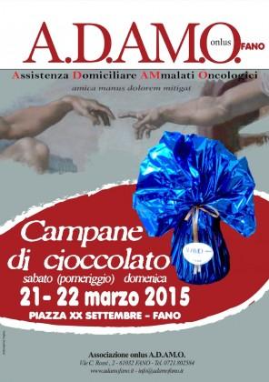 Pasqua, raccolta di beneficenza: campane di cioccolato per A.D.A.M.O.